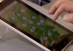 iPad in use on TV3